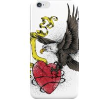 Eagle Attacks Red Broken Heart iPhone Case/Skin