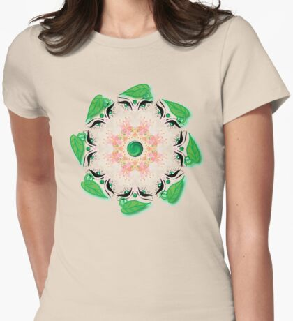 Rotating Flowers (2014) Womens Fitted T-Shirt