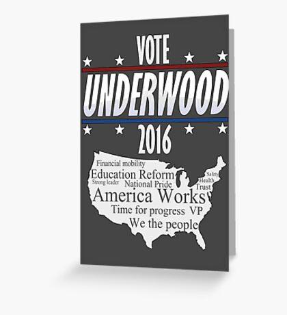 Vote Frank Underwood 2016 Greeting Card