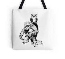 Snapping Turtle and Owl Tote Bag