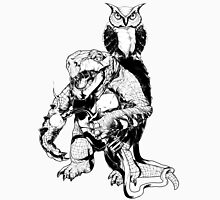Snapping Turtle and Owl Unisex T-Shirt