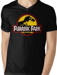 Furassic Fark Mens V-Neck T-Shirt
