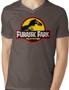 Furassic Fark Mens V-Neck T-Shirt