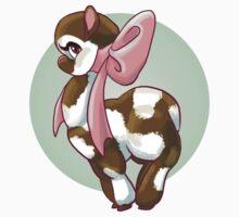 Cutie Bow Llama Baby Tee