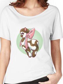 Cutie Bow Llama Women's Relaxed Fit T-Shirt