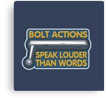 Bolt Actions  Canvas Print