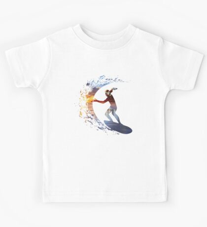 Surfing during sunset Kids Tee
