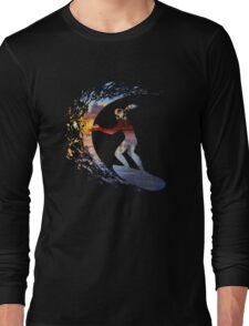 Surfing during sunset Long Sleeve T-Shirt