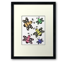 Colorful Bees Framed Print