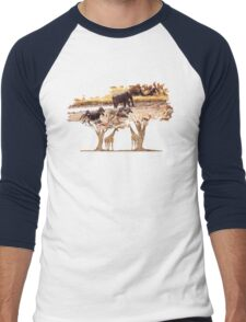 African Nature Men's Baseball ¾ T-Shirt