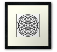 Stained Glass Mandala Framed Print