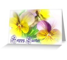 Pansies for Easter Greeting Card