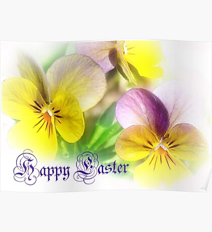 Pansies for Easter Poster