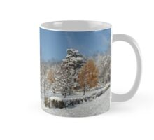 Winter alley of trees, Siberia, Russia Mug