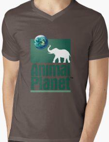 Old Animal Planet Logo Mens V-Neck T-Shirt