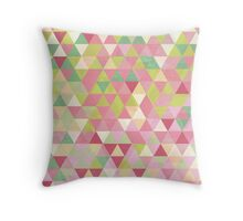 Isometric Spring Throw Pillow