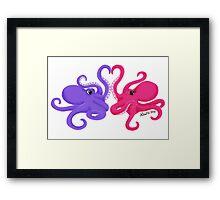 Valentine octopus Framed Print