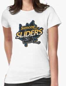 Simcoe County Sliders Crest Womens Fitted T-Shirt