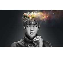 BTS Jin Flower Crown 2 Splash Photographic Print