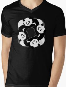 PANDA PLAY Mens V-Neck T-Shirt
