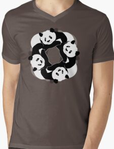 PANDA PLAY Mens V-Neck T-Shirt
