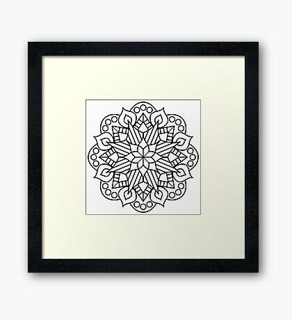 Flower and Flame Mandala Framed Print