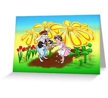 Among The Spring-Flowers Greeting Card