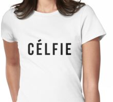 Celfie - version 1 - black Womens Fitted T-Shirt