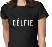 Celfie - version 2 - white Womens Fitted T-Shirt