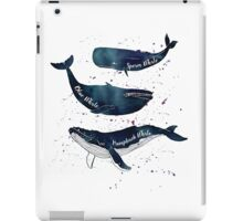 Watercolor whales iPad Case/Skin