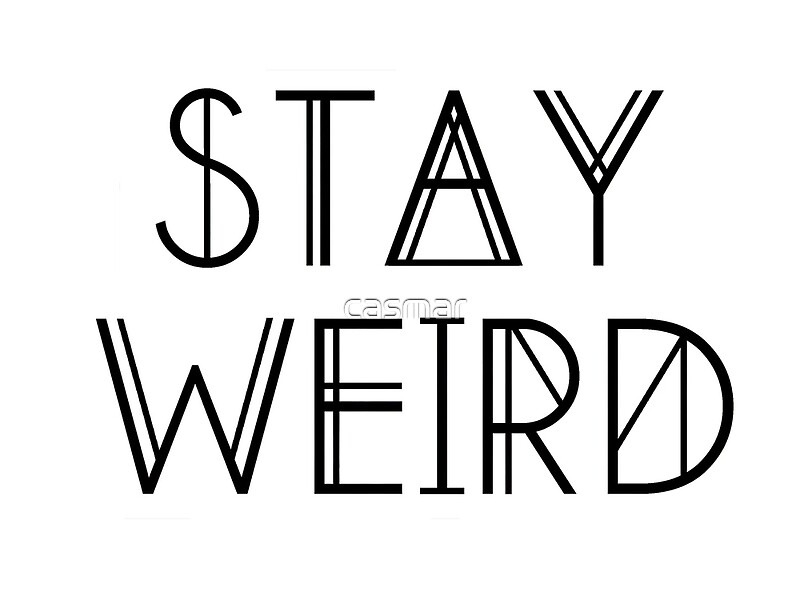 21077153 Stay Weird on cute iphone cases for 4