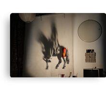 Horse projection Canvas Print
