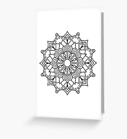 Hypno-Mandala Greeting Card