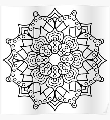 Hypno-Mandala Poster