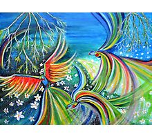 Dance of the Birds Abstract colorful painting Photographic Print
