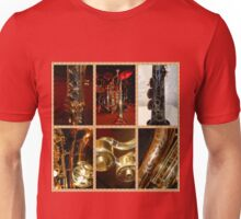 Wind Instruments Music Collage Unisex T-Shirt