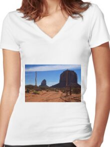 Follow the Road Where Your Heart Leads Women's Fitted V-Neck T-Shirt
