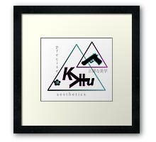 Vaporwave Precise Aesthetics Art Kevin Hu Designer 001 Framed Print