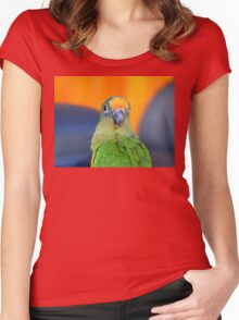 Delta - Peach-Fronted Conure - NZ Women's Fitted Scoop T-Shirt