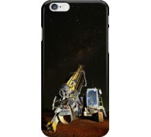 Drill rig by night iPhone Case/Skin