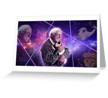 Bernie Sanders Holding Cat in Space Greeting Card