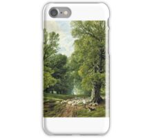 Frederick William Hulme - A Shepherd and His Flock in a Shady Glade  iPhone Case/Skin
