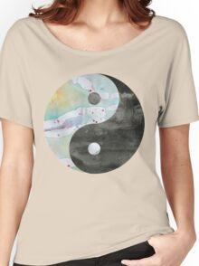 Yin & Yang Watercolor Women's Relaxed Fit T-Shirt