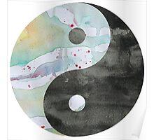 Yin & Yang Watercolor Poster