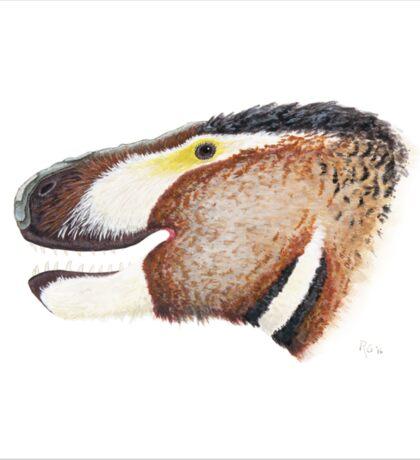 Fuzzy Tyrannosaurus Sticker