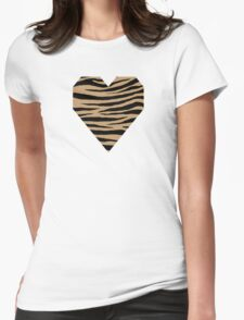 0100 Camel, Fallow, Lion, Wood Brown or Desert Tiger Womens Fitted T-Shirt