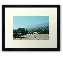 The Pacific Coast Highway No.3 (California) Framed Print