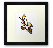 captain calvin and hobbe Framed Print