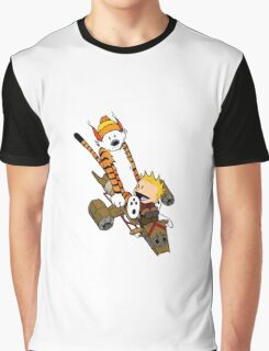 captain calvin and hobbe Graphic T-Shirt