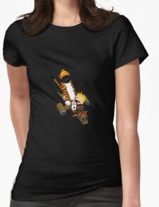 captain calvin and hobbe Womens Fitted T-Shirt